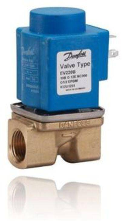 EV220B 6-22 is a direct servo-operated 2/2-way solenoid valve program with connections from 1/4